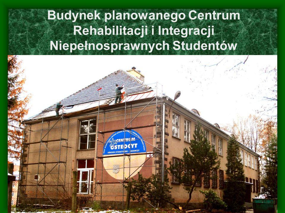 Budynek planowanego Centrum Rehabilitacji i Integracji Niepełnosprawnych Studentów