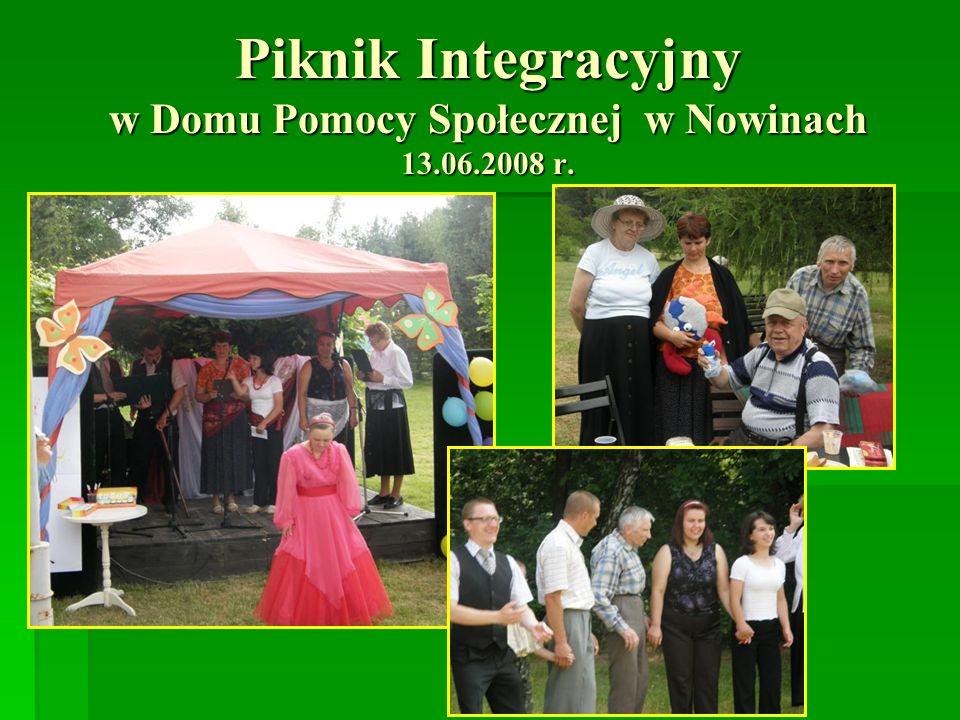 Piknik Integracyjny w Domu Pomocy Społecznej w Nowinach 13.06.2008 r.