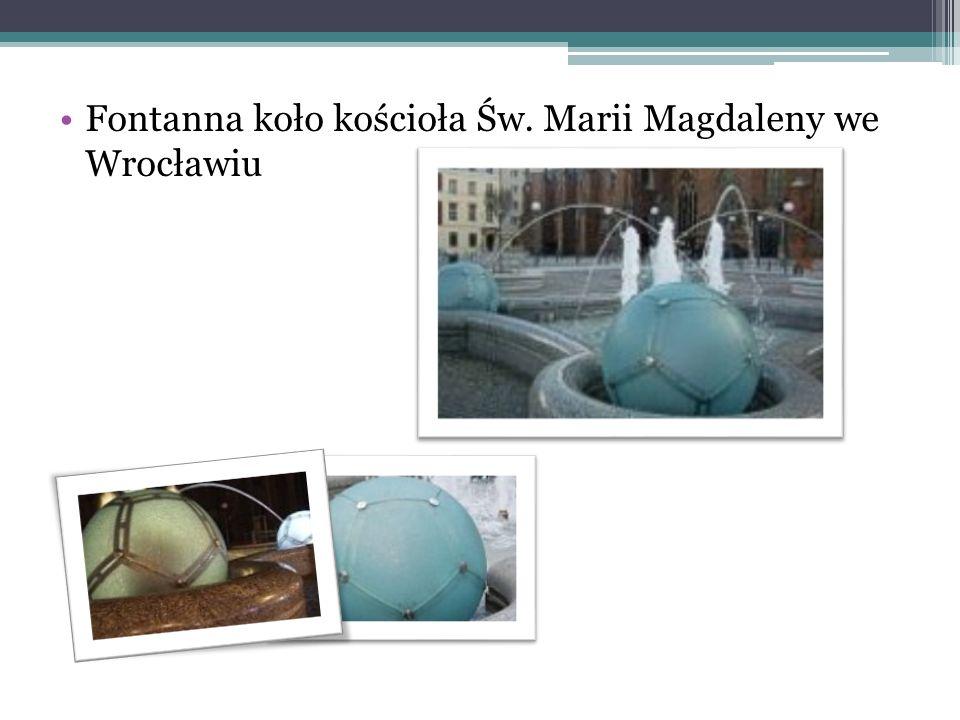 Fontanna koło kościoła Św. Marii Magdaleny we Wrocławiu