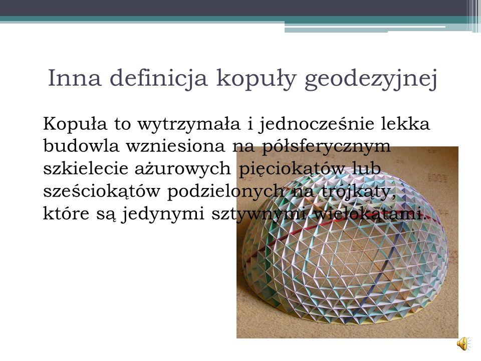 Inna definicja kopuły geodezyjnej