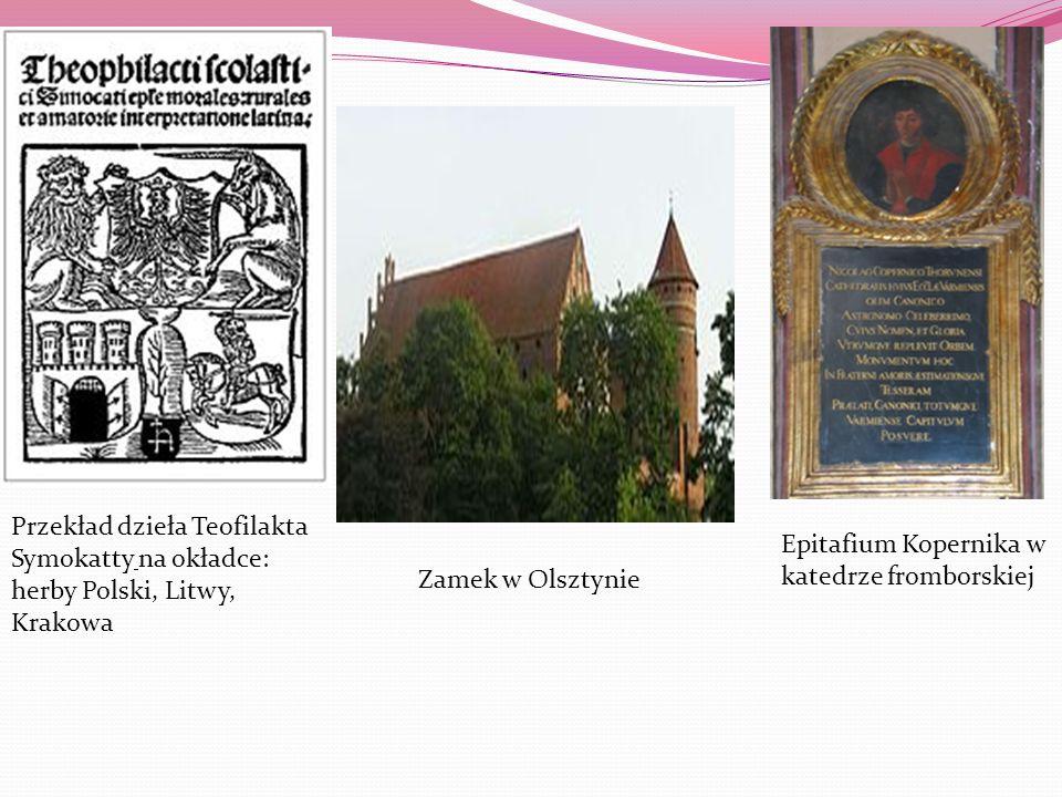 Przekład dzieła Teofilakta Symokatty na okładce: herby Polski, Litwy, Krakowa