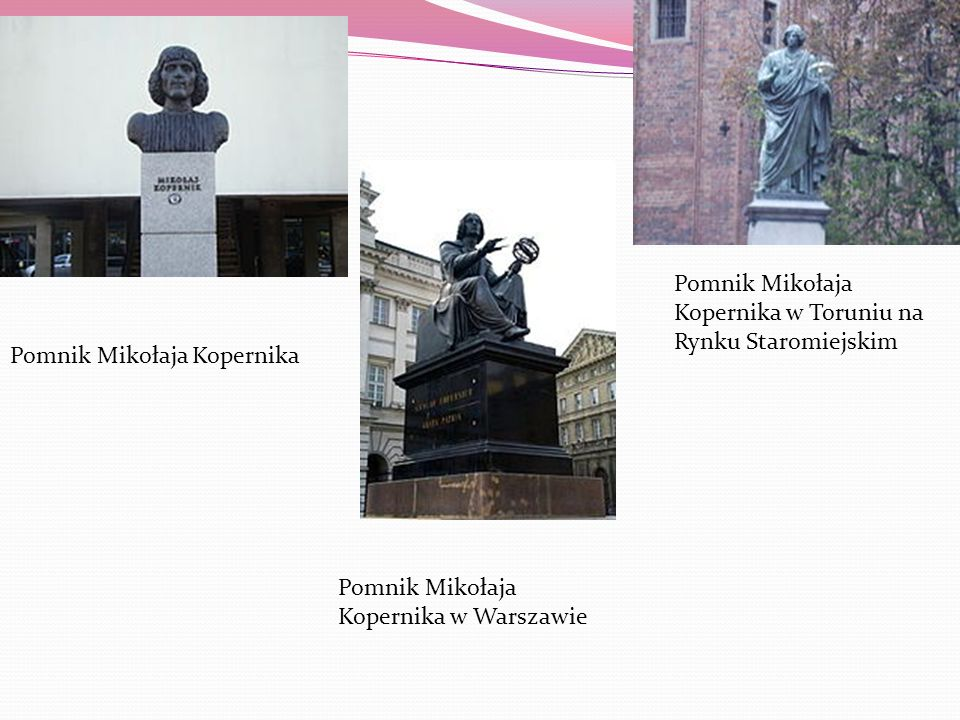 Pomnik Mikołaja Kopernika w Toruniu na Rynku Staromiejskim