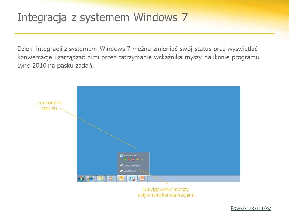 Integracja z systemem Windows 7