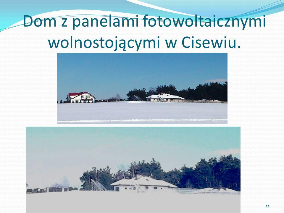 Dom z panelami fotowoltaicznymi wolnostojącymi w Cisewiu.