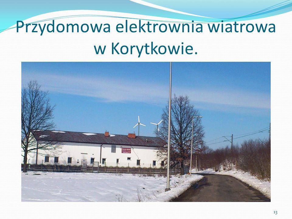 Przydomowa elektrownia wiatrowa w Korytkowie.