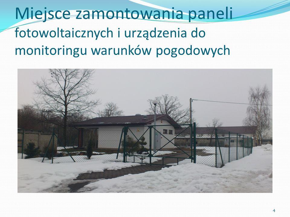 Miejsce zamontowania paneli fotowoltaicznych i urządzenia do monitoringu warunków pogodowych