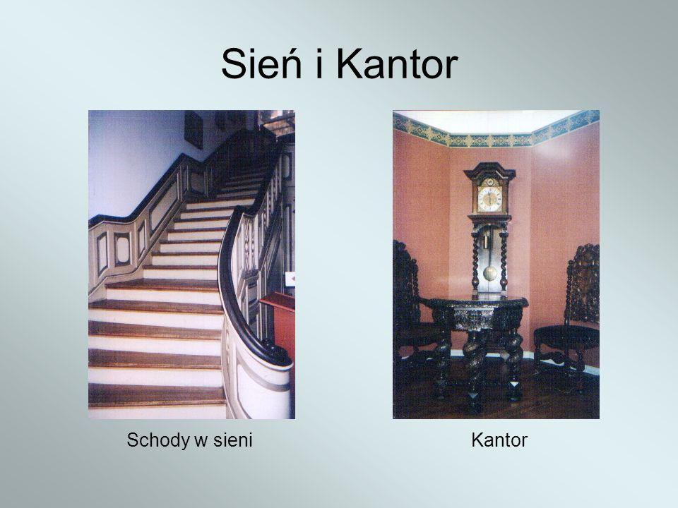 Sień i Kantor Schody w sieni Kantor