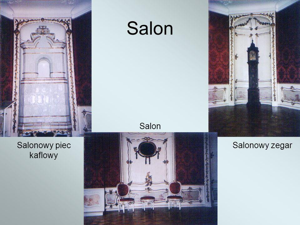 Salon Salon Salonowy piec kaflowy Salonowy zegar