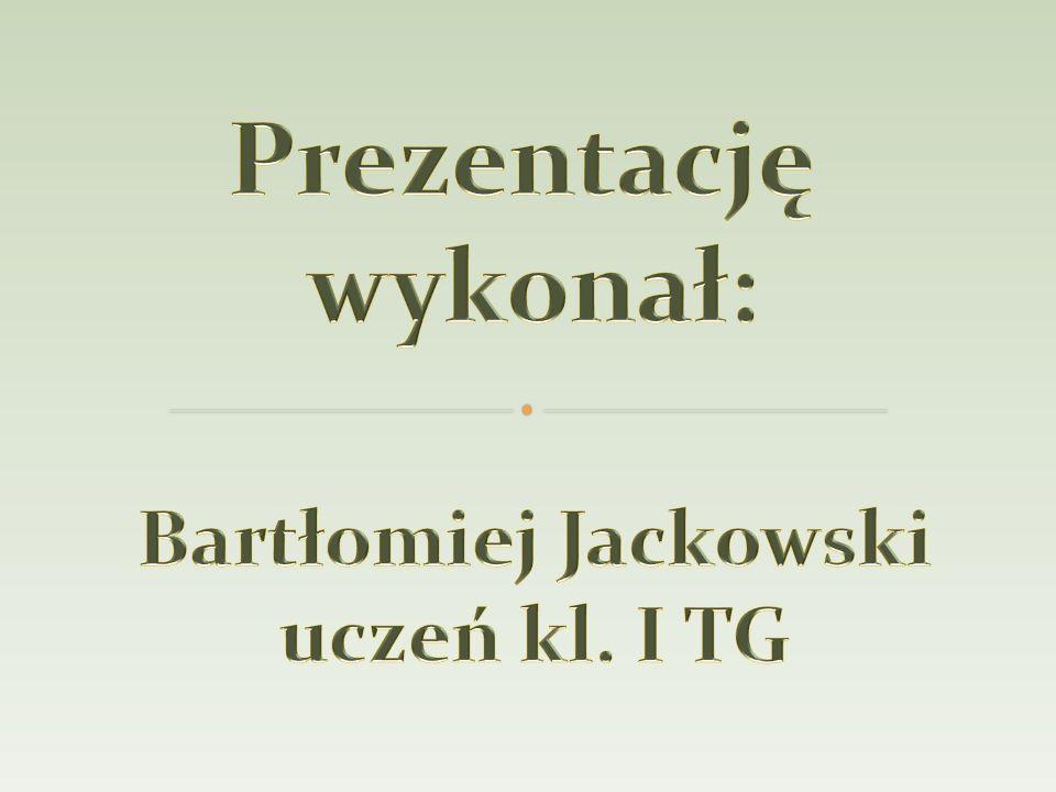 Prezentację wykonał: Bartłomiej Jackowski uczeń kl. I TG