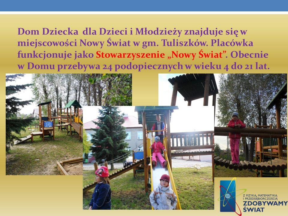 Dom Dziecka dla Dzieci i Młodzieży znajduje się w miejscowości Nowy Świat w gm.