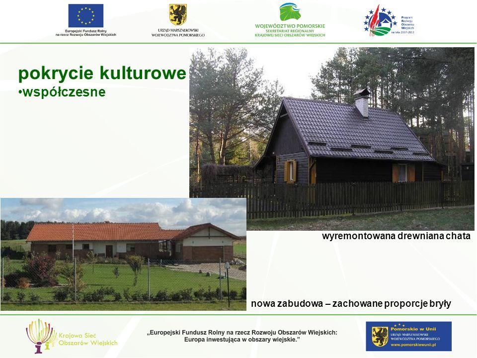 pokrycie kulturowe współczesne wyremontowana drewniana chata