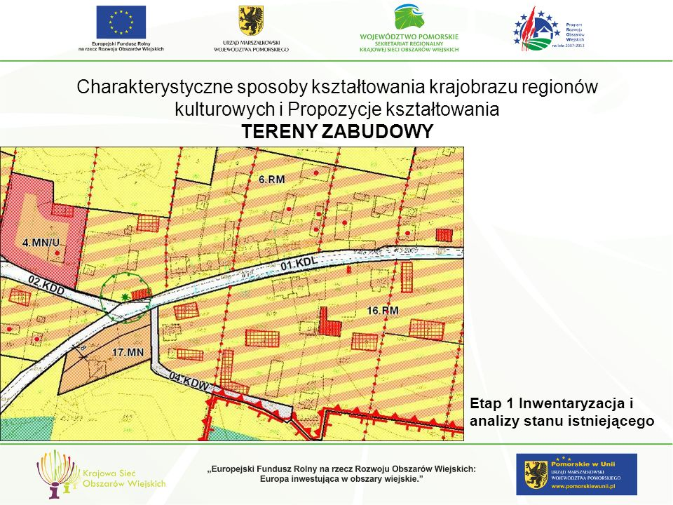 Charakterystyczne sposoby kształtowania krajobrazu regionów kulturowych i Propozycje kształtowania TERENY ZABUDOWY