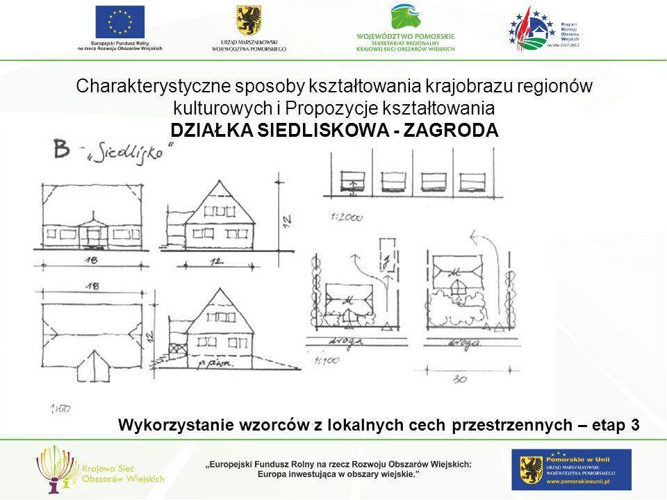 Charakterystyczne sposoby kształtowania krajobrazu regionów kulturowych i Propozycje kształtowania DZIAŁKA SIEDLISKOWA - ZAGRODA