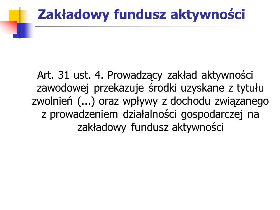 Zakładowy fundusz aktywności