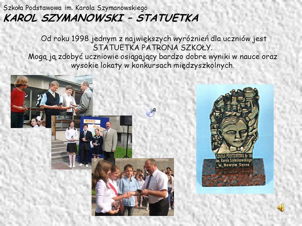 Szkoła Podstawowa im. Karola Szymanowskiego KAROL SZYMANOWSKI – STATUETKA