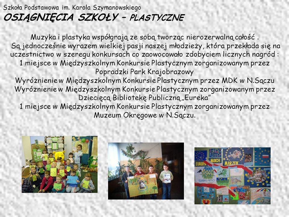 Wyróżnienie w Międzyszkolnym Konkursie Plastycznym przez MDK w N.Sączu