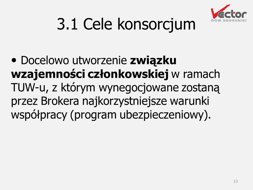 3.1 Cele konsorcjum