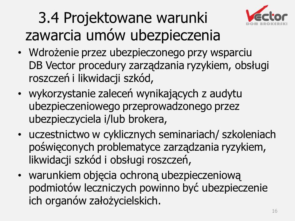 3.4 Projektowane warunki zawarcia umów ubezpieczenia