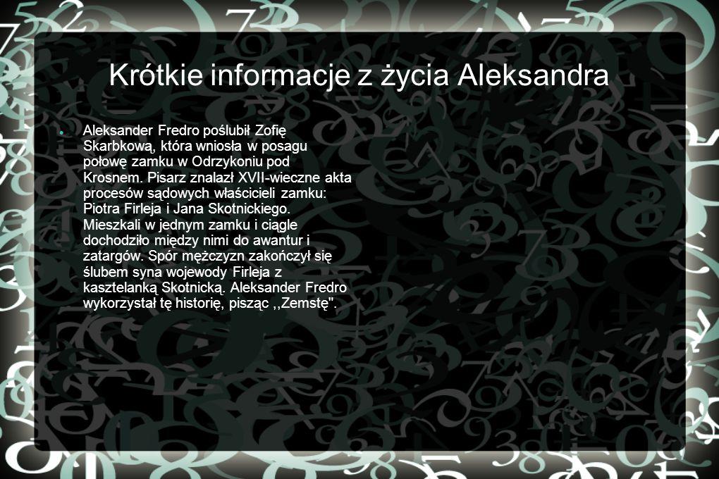 Krótkie informacje z życia Aleksandra