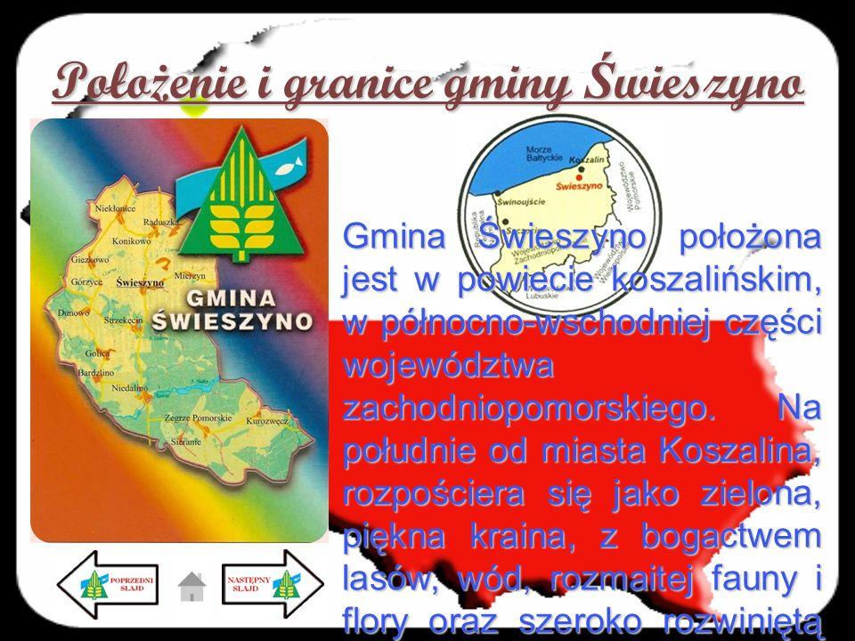 Położenie i granice gminy Świeszyno
