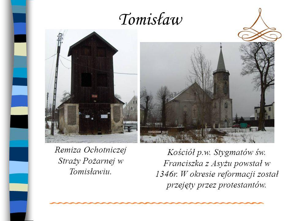 Remiza Ochotniczej Straży Pożarnej w Tomisławiu.