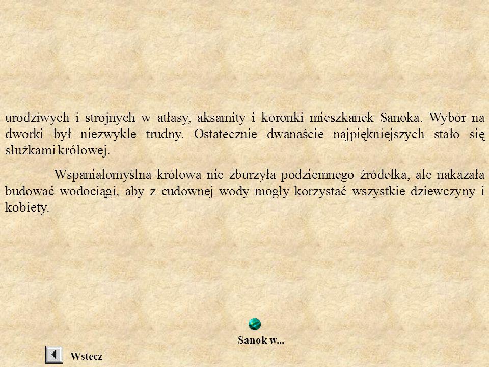 urodziwych i strojnych w atłasy, aksamity i koronki mieszkanek Sanoka