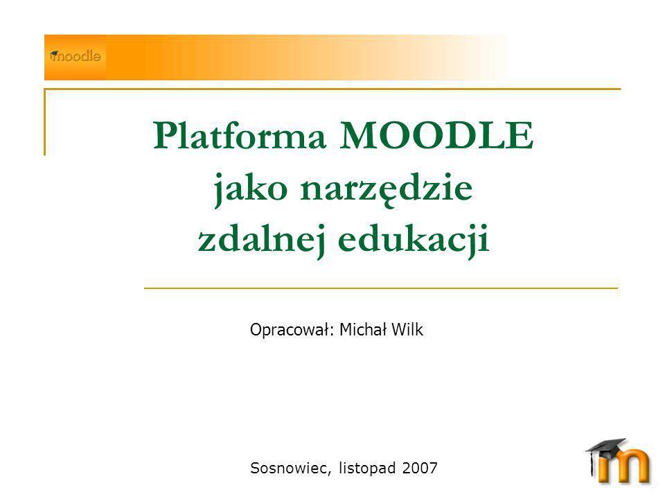 Platforma MOODLE jako narzędzie zdalnej edukacji