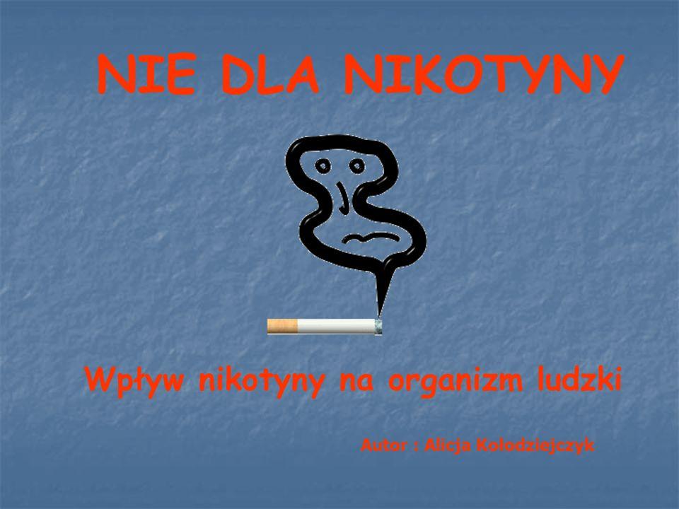 Wpływ nikotyny na organizm ludzki