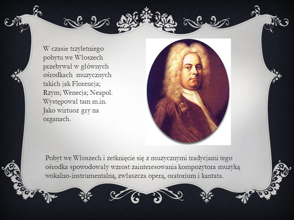 W czasie trzyletniego pobytu we Włoszech przebywał w głównych ośrodkach muzycznych takich jak Florencja; Rzym; Wenecja; Neapol. Występował tam m.in. Jako wirtuoz gry na organach.