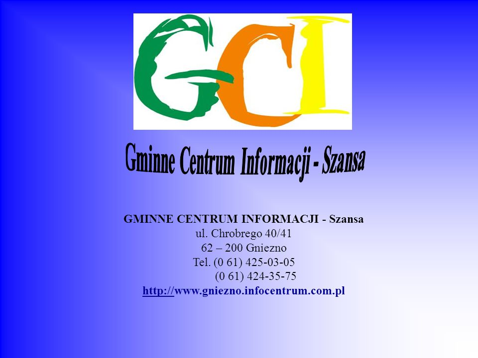 Gminne Centrum Informacji - Szansa
