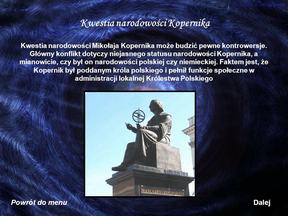 Kwestia narodowości Kopernika