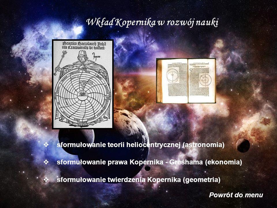 Wkład Kopernika w rozwój nauki