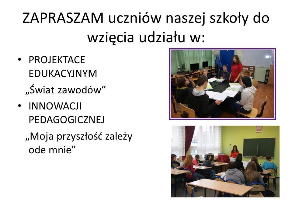ZAPRASZAM uczniów naszej szkoły do wzięcia udziału w: