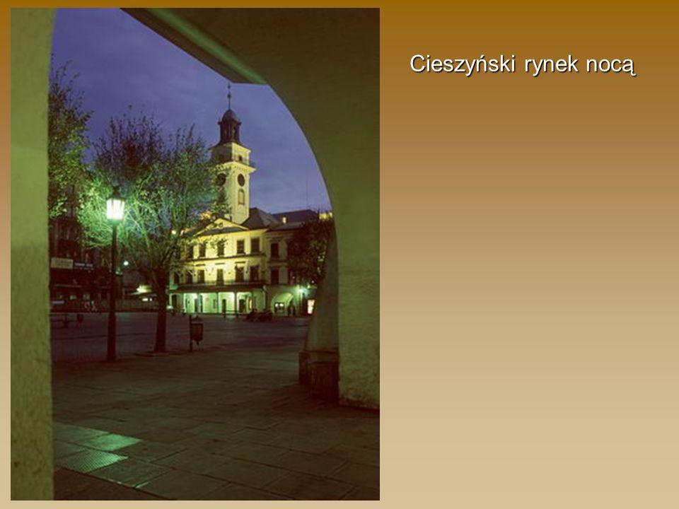 Cieszyński rynek nocą