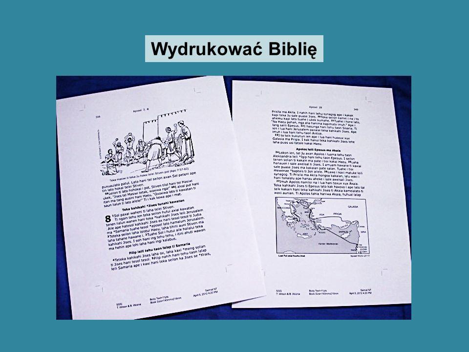 Wydrukować Biblię