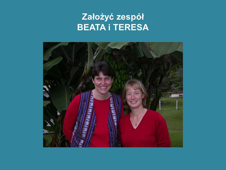 Założyć zespół BEATA i TERESA