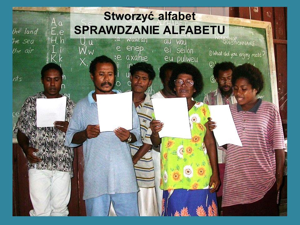 Stworzyć alfabet SPRAWDZANIE ALFABETU