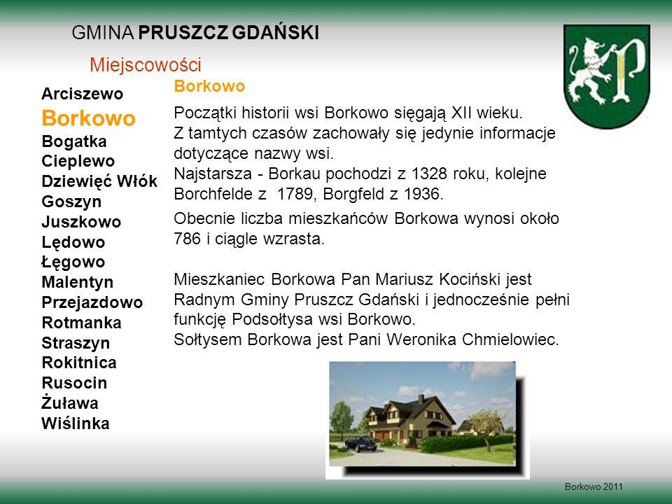 Borkowo GMINA PRUSZCZ GDAŃSKI Miejscowości Borkowo Arciszewo Bogatka
