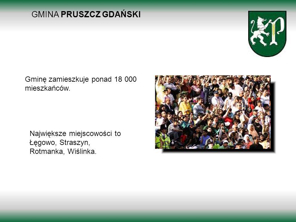 GMINA PRUSZCZ GDAŃSKI Gminę zamieszkuje ponad 18 000 mieszkańców.