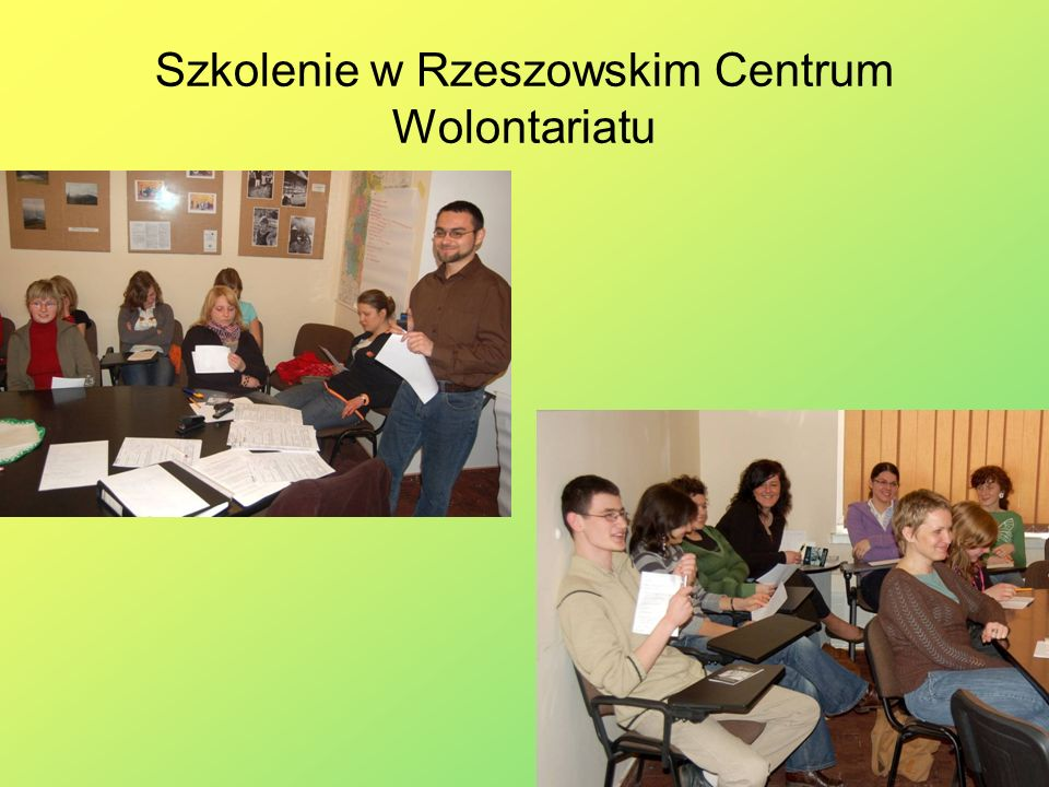 Szkolenie w Rzeszowskim Centrum Wolontariatu