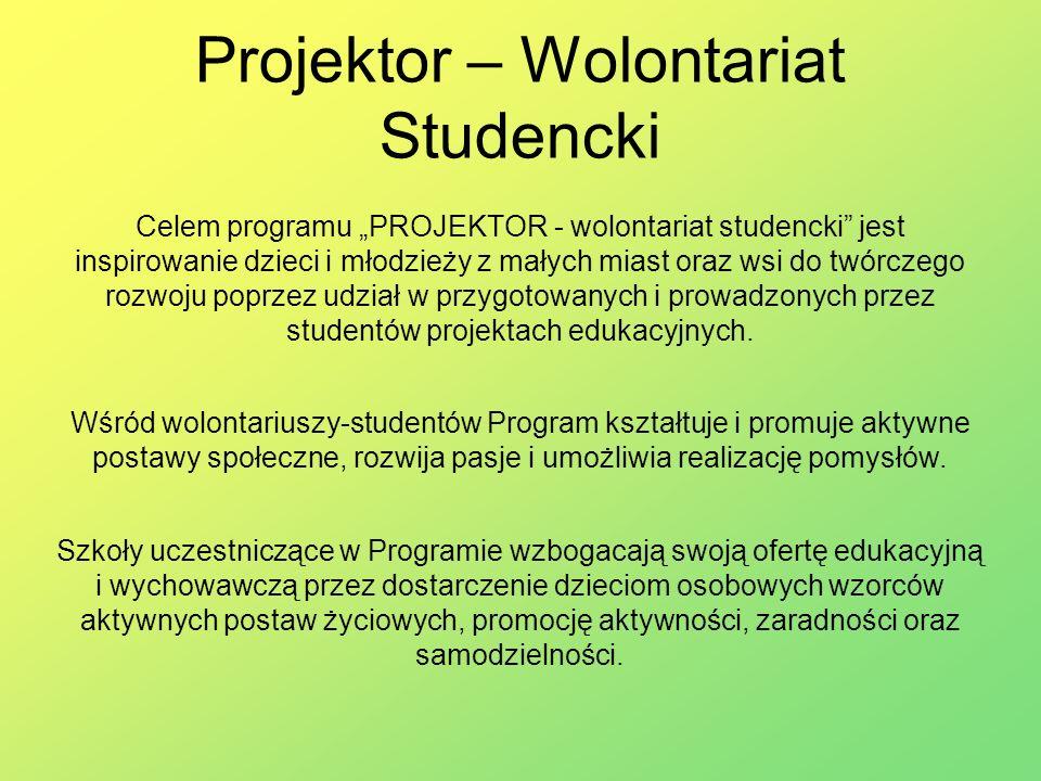 Projektor – Wolontariat Studencki