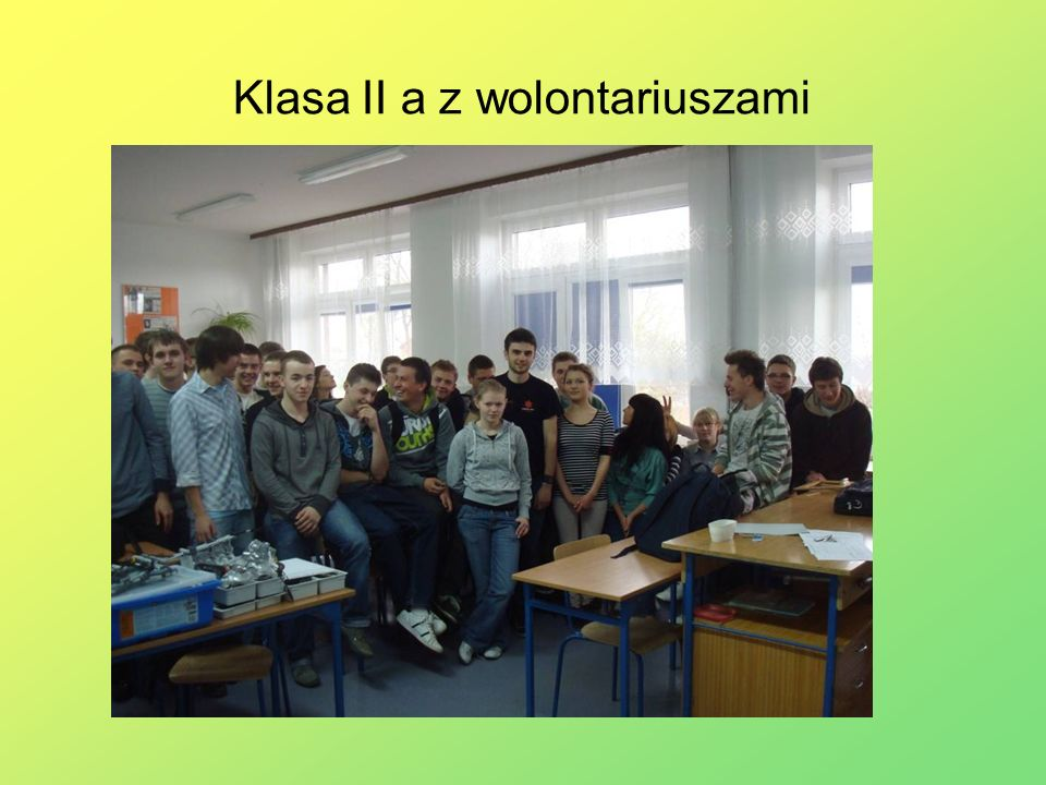 Klasa II a z wolontariuszami