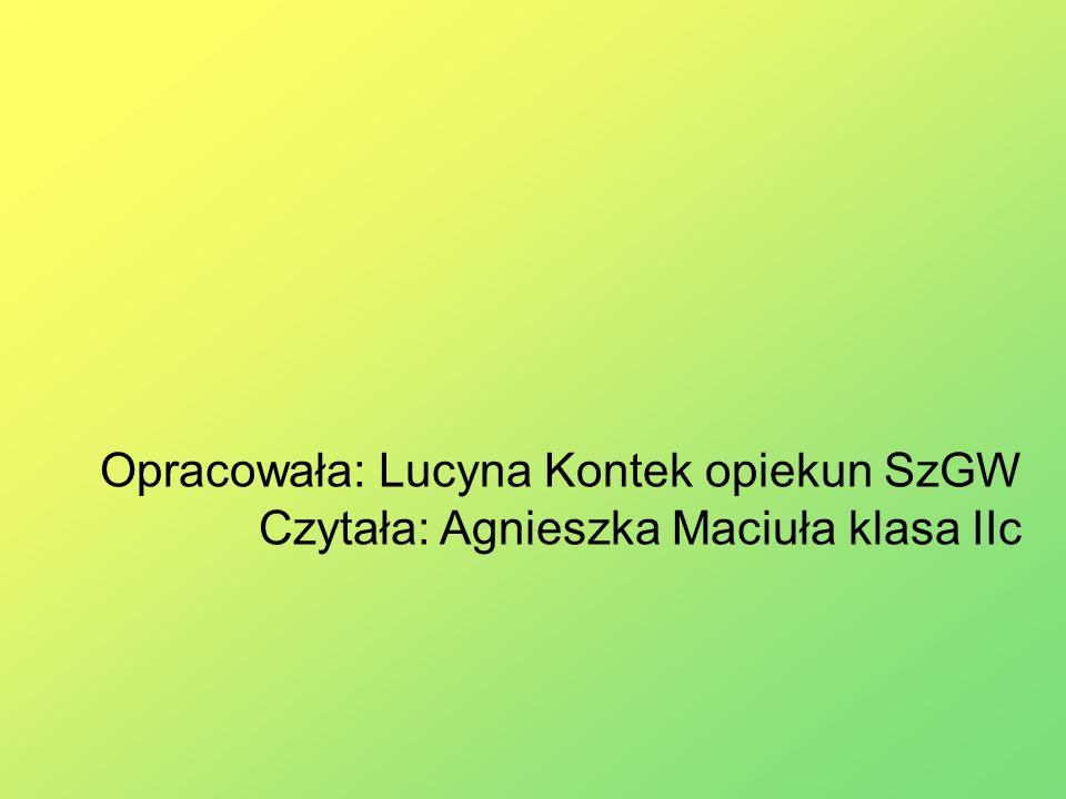 Opracowała: Lucyna Kontek opiekun SzGW