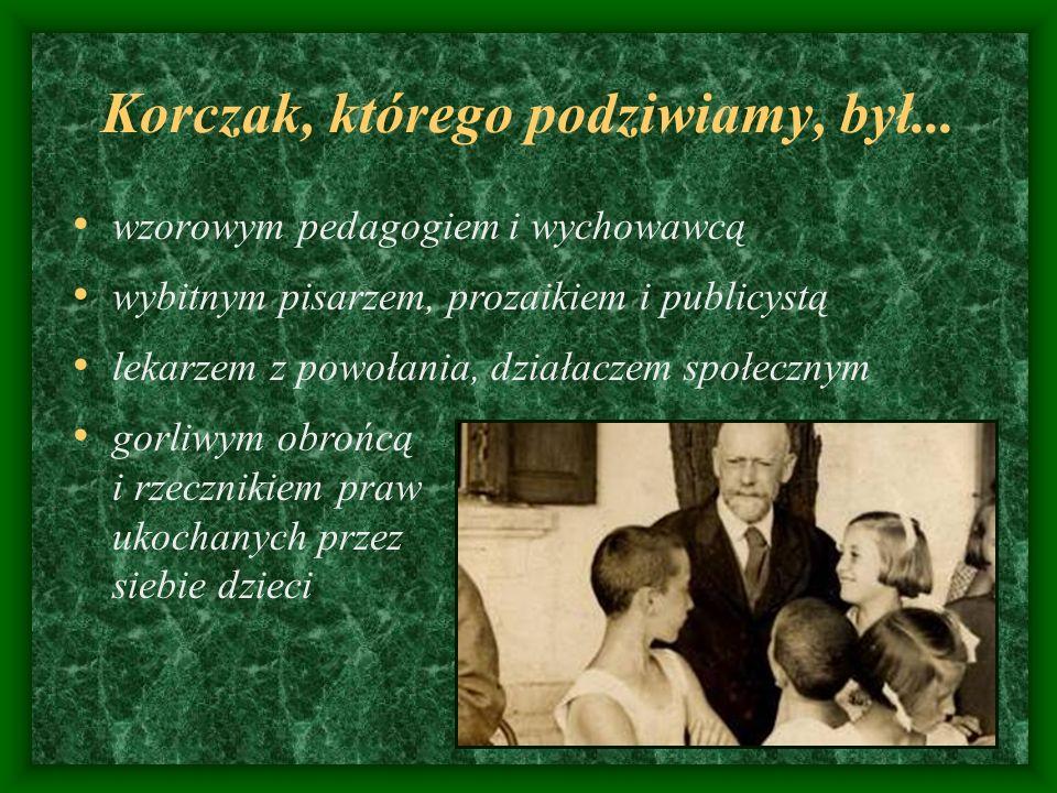 Korczak, którego podziwiamy, był...
