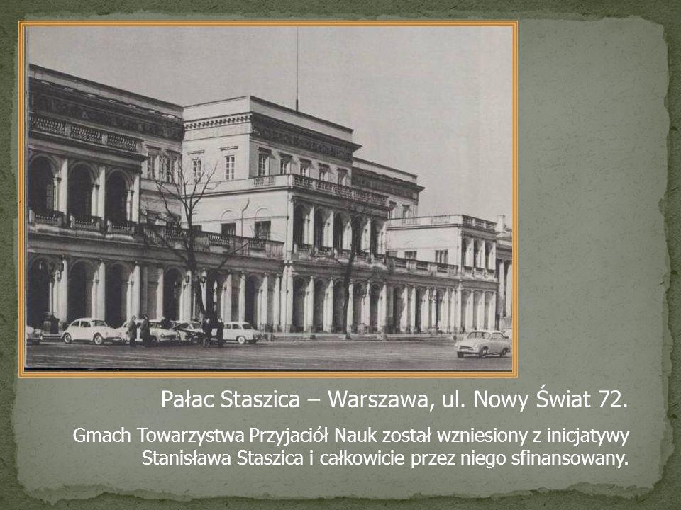 Pałac Staszica – Warszawa, ul. Nowy Świat 72.