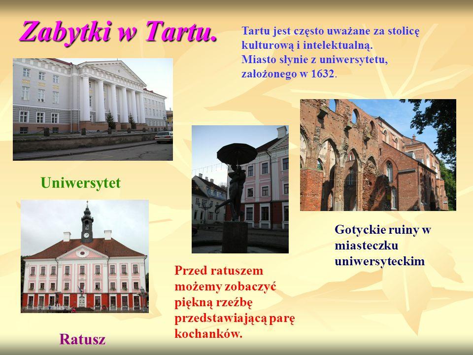 Zabytki w Tartu. Uniwersytet Ratusz