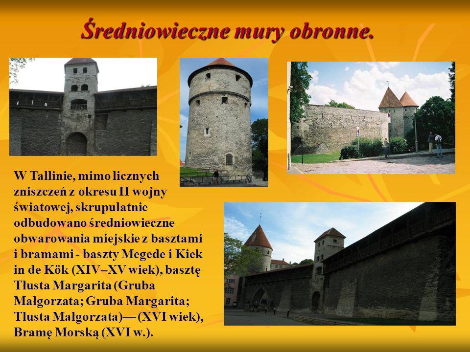 Średniowieczne mury obronne.