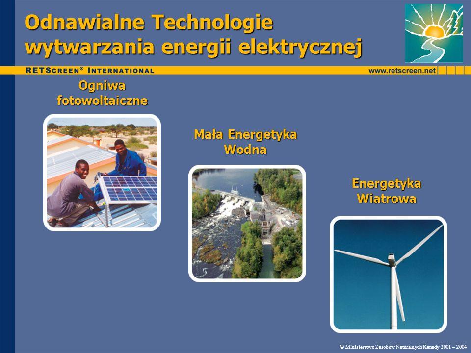 Odnawialne Technologie wytwarzania energii elektrycznej
