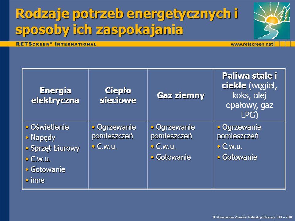 Rodzaje potrzeb energetycznych i sposoby ich zaspokajania