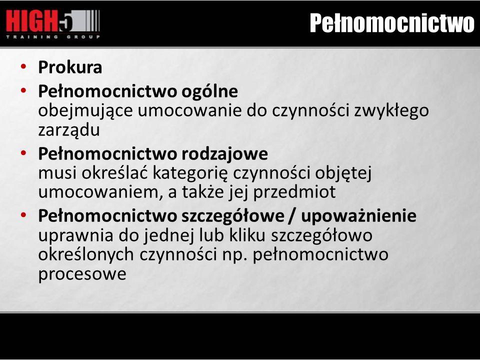 Pełnomocnictwo Prokura